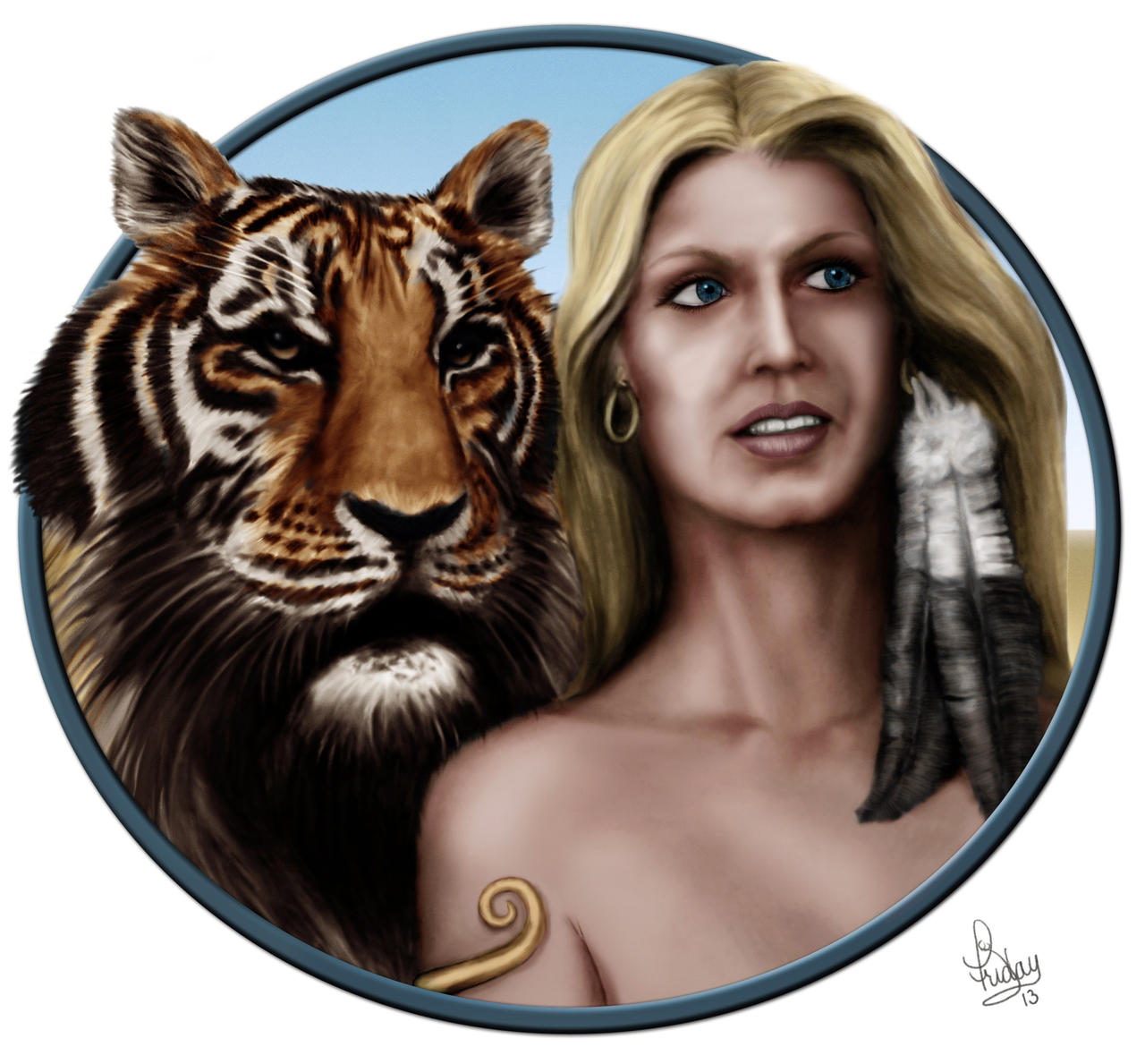 the lady and the tiger by pixel slinger on   the lady and the tiger by pixel slinger