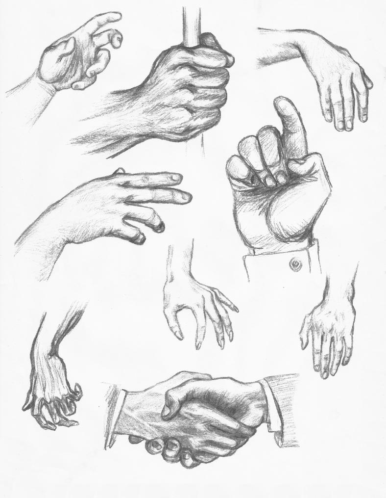 Daily Sketch - Hand Study by Pixel-Slinger on DeviantArtGrabbing Hand Drawing