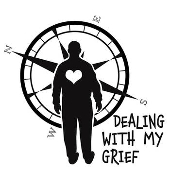 Logo for Dealing With My Grief podcast by Pixel-Slinger