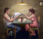 Breakfast (color) by Pixel-Slinger