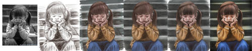 Process for Sad Girl by Pixel-Slinger