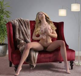 Reclining Blonde by Pixel-Slinger