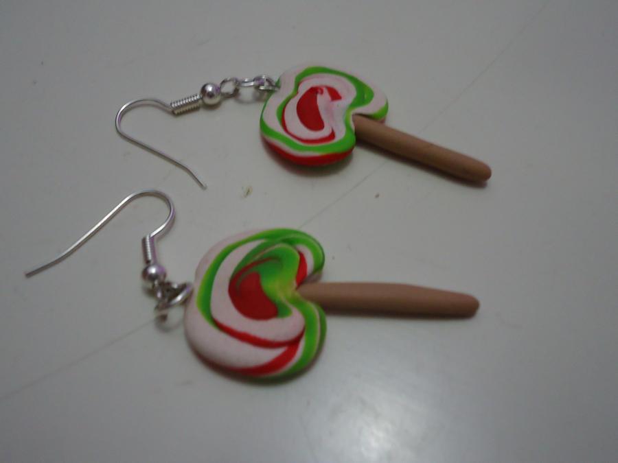 Polymer Earrings - Lollipop