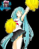 Render - Miku Hatsune by BeatoMegu