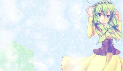 Green anime girl wallpaper by BeatoMegu