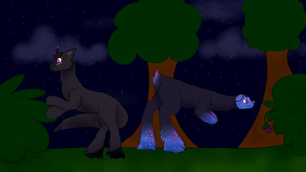 Gathering w/ Nebula and Aradia by Wildflower-Ivalia