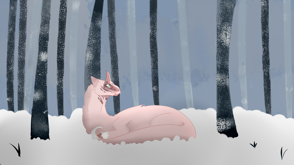 Laying in the Snow ~ Kukuri by Wildflower-Ivalia
