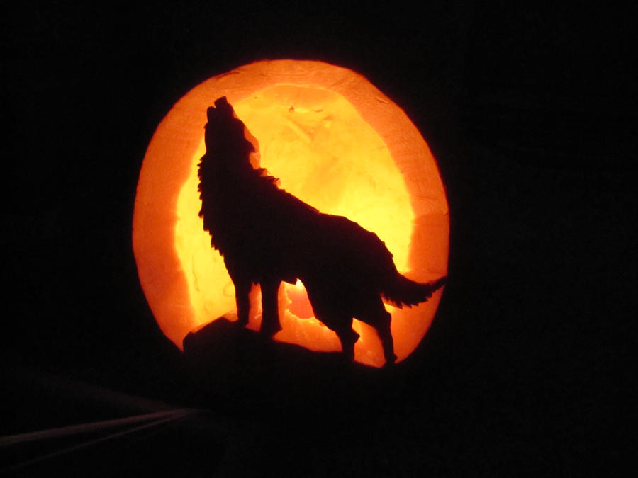 Wolf pumpkin by fairygirl on deviantart