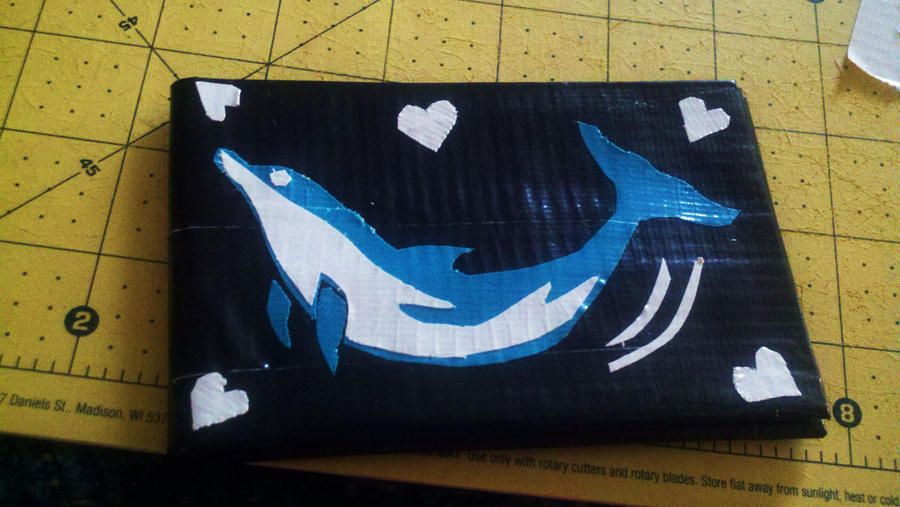 love duct tape. Dolphin Love Duct Tape Wallet By Fairygirl1031