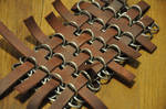 Leather reinforced chainmail