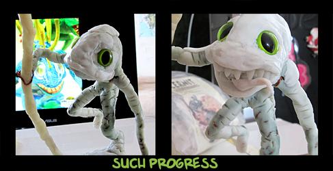 murloc sculpture in progress by 95n