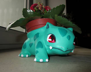 cute ivysaur flower pot by 95n