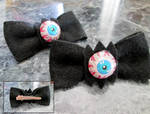 eyeball felt bows (fail)