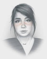 Erin Portrait by moisesrodriguez-art