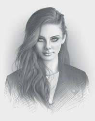 Lost Portrait by moisesrodriguez-art