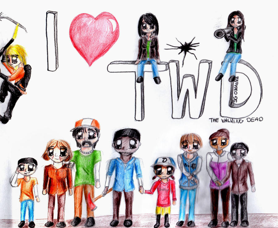 The Walking Dead Game - Chibi Version by Livvy-san