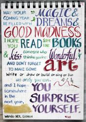 New Year Greeting by Neil Gaiman