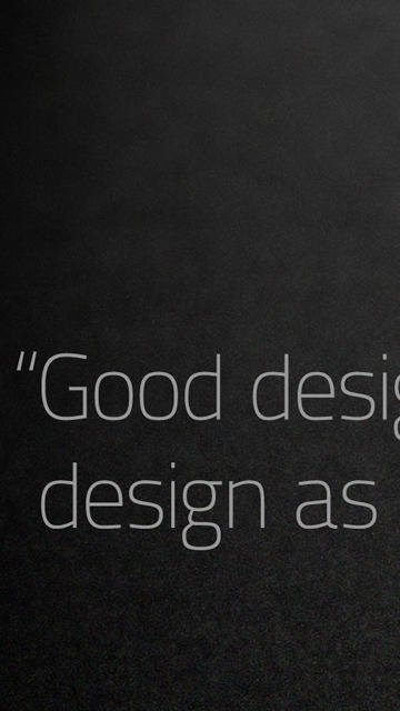 'Good Design...'