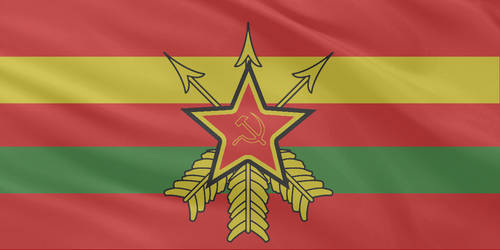 Nation States Communist Flag 1 by MNABKERNU