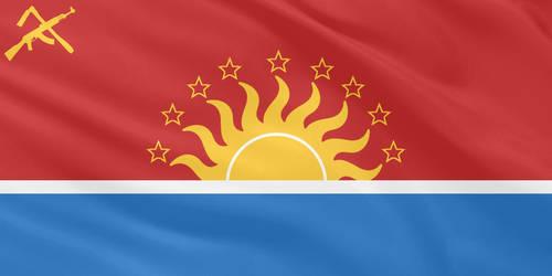 Communist Flag for Antigua and Barbuda by MNABKERNU