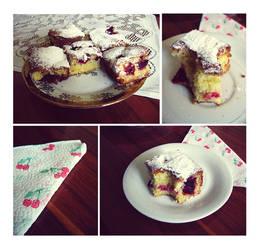 Grandma's Cake With Cherries