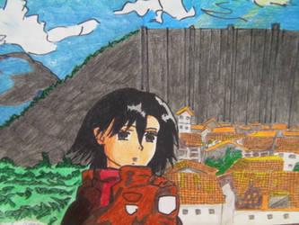 Mikasa Ackerman Fondo by GabrielleAston