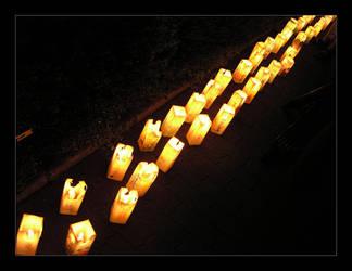Hiroshima Candles by bukephalas