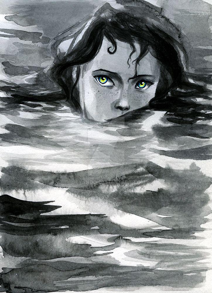 Naraya in the sea by jeyando