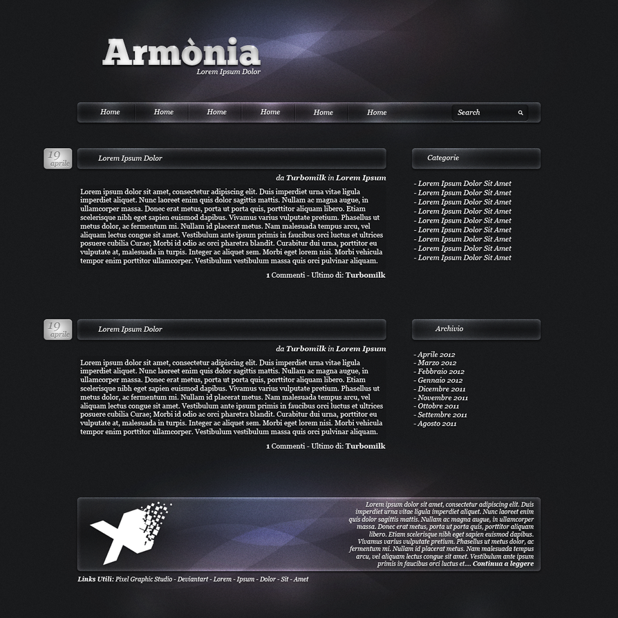 Armonia Wordpress theme by creativen3rd