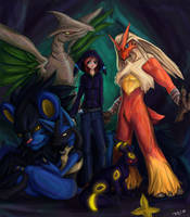 Team LightUmbreon by taravalentine