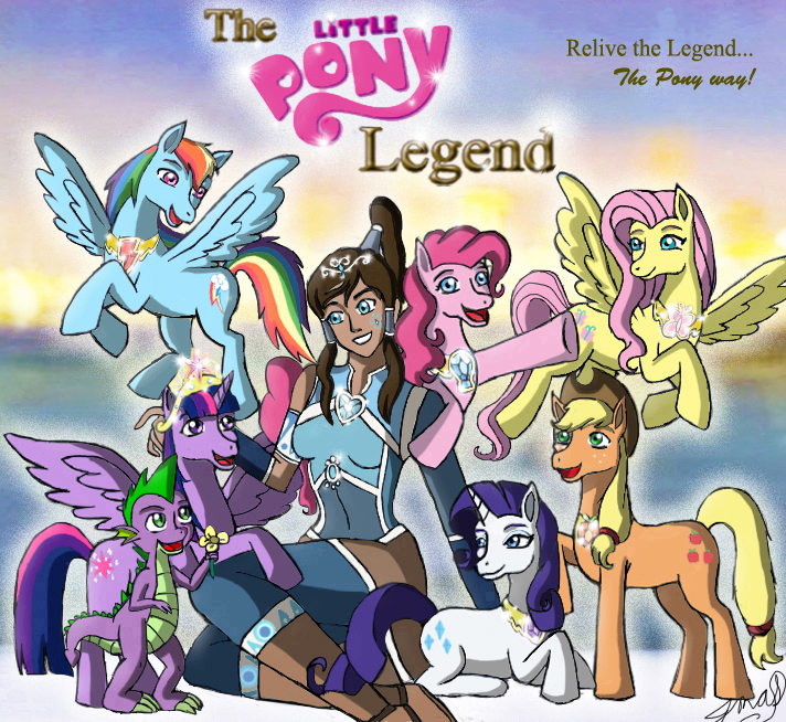 the little pony legend korrapony crossover by