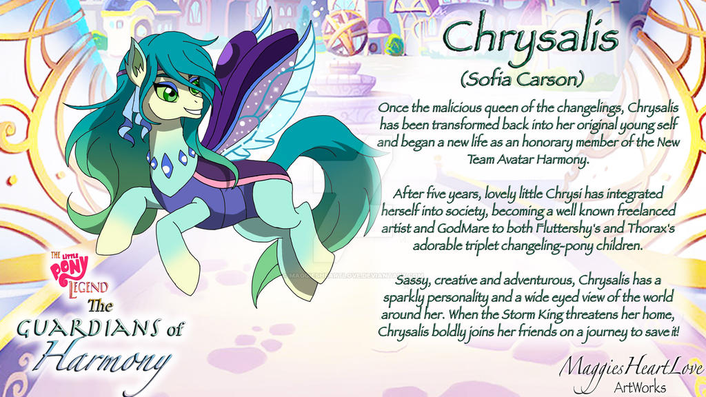 The Little Pony Legend Movie, Chrysalis Profile by MaggiesHeartLove