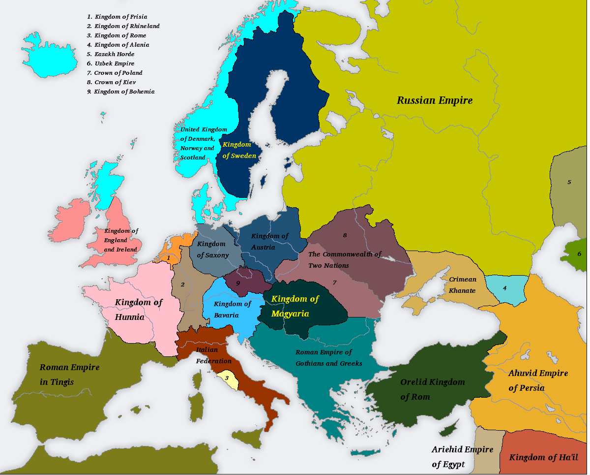 Many Romes 1700AD by Artaxes2