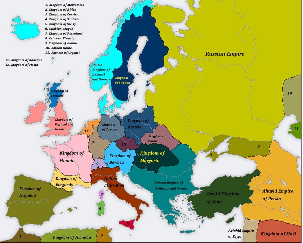 Many Romes 1800AD by Artaxes2