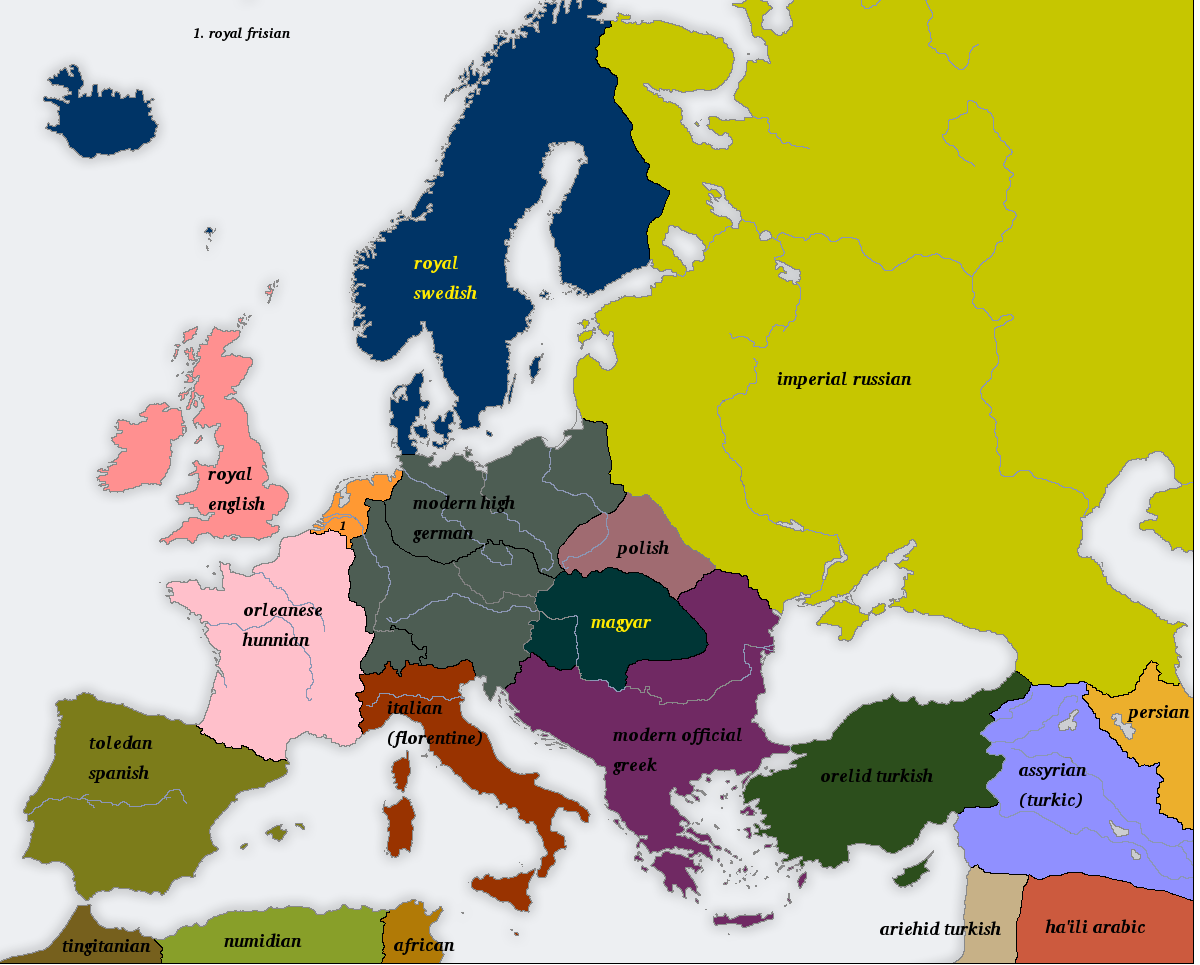 Many Romes 1900AD-official-languages by Artaxes2