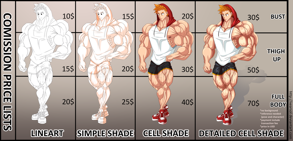 Commission Price List by xearsol