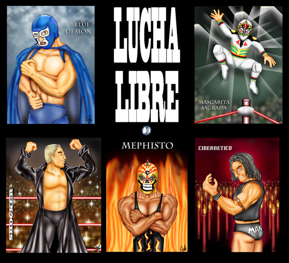 lucha libre by cidruy on deviantART