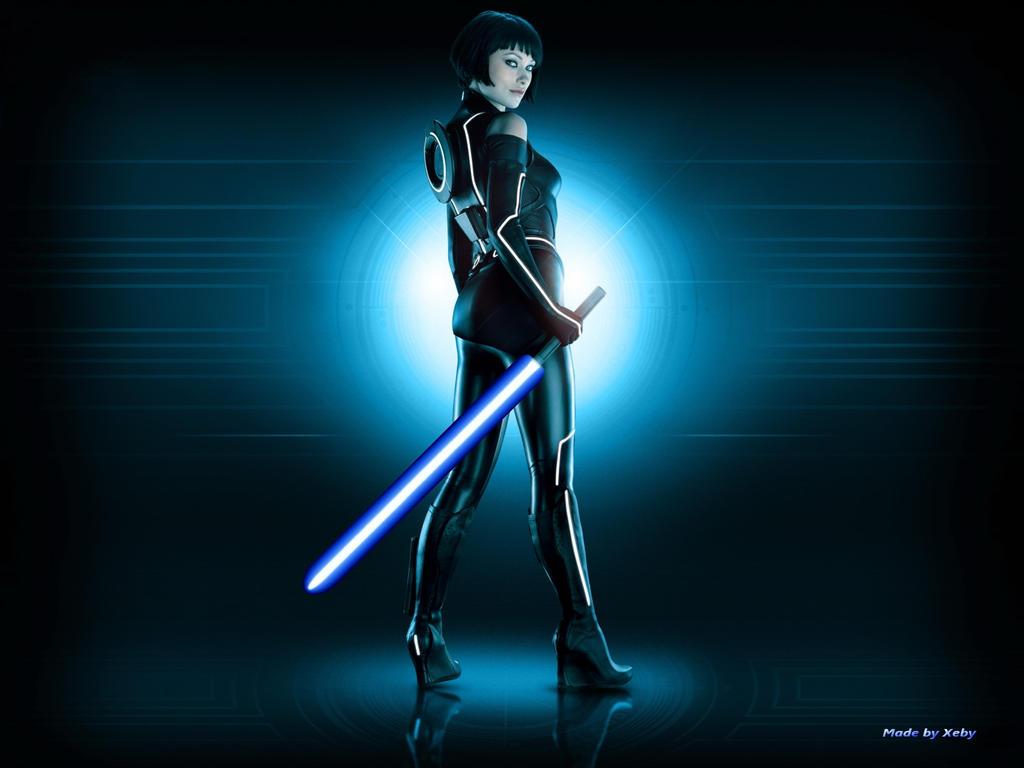 tron girl lightsaber