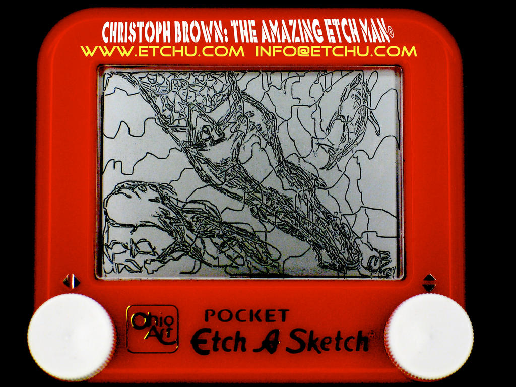 Aquaman Etch A Sketch by EtchUProductions