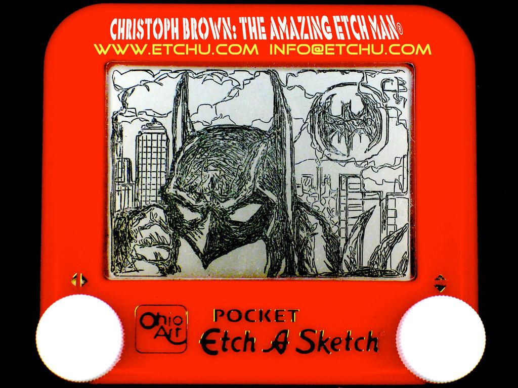 Batman Etch A Sketch by EtchUProductions