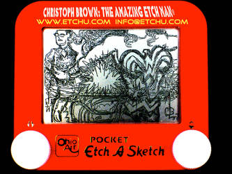 Wonder Woman Quick Change Etch A Sketch by EtchUProductions