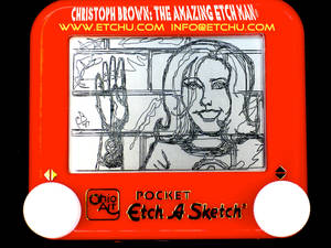 2.3 Invisable Girl:woman Etch A Sketch