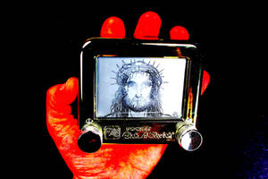 Jesus in Golden by THE AMAZING ETCH MAN by EtchUProductions