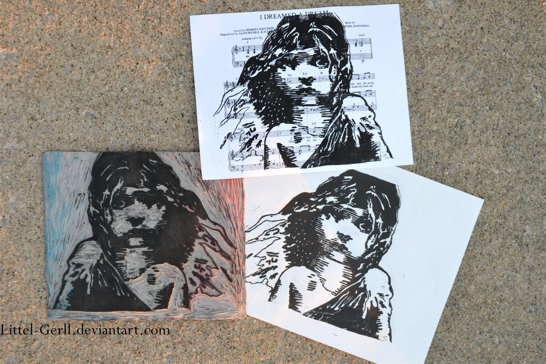 Les Miserables Linoleum by Littel-Gerll