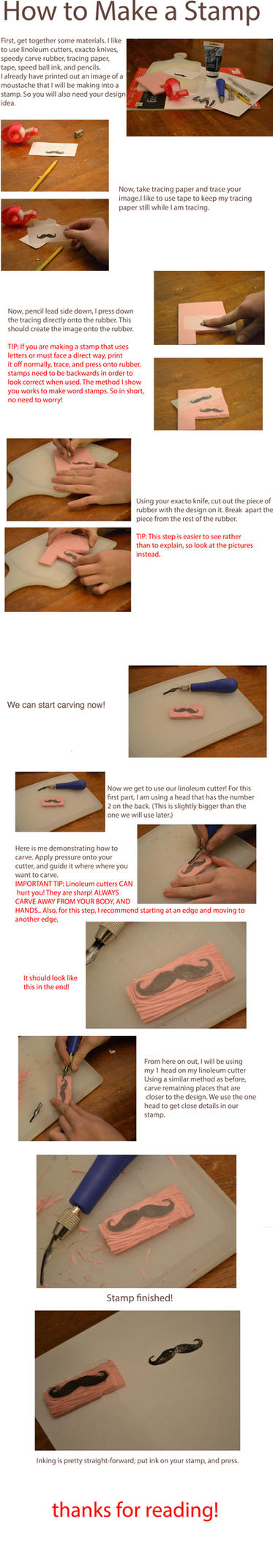 How to Make a Rubber Stamp Tutorial by Littel-Gerll