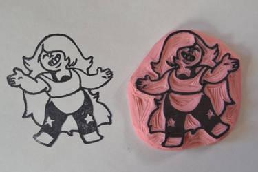 Steven Universe: Amethyst Stamp by Littel-Gerll