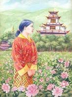 The Rose of Bhutan by rinaswan