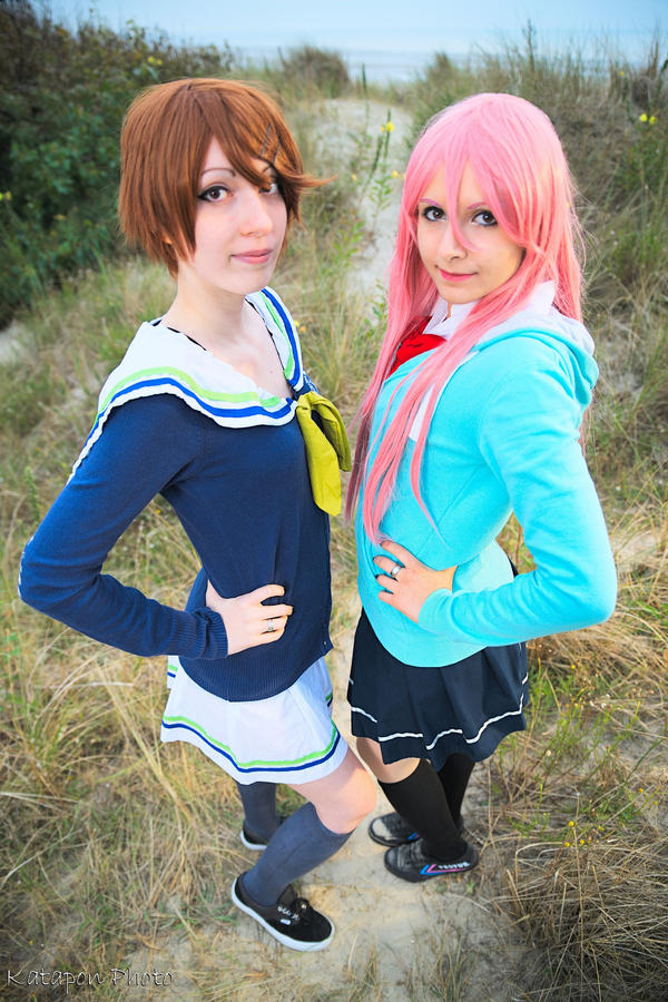 Riko and Momoi by MikadoCosplay