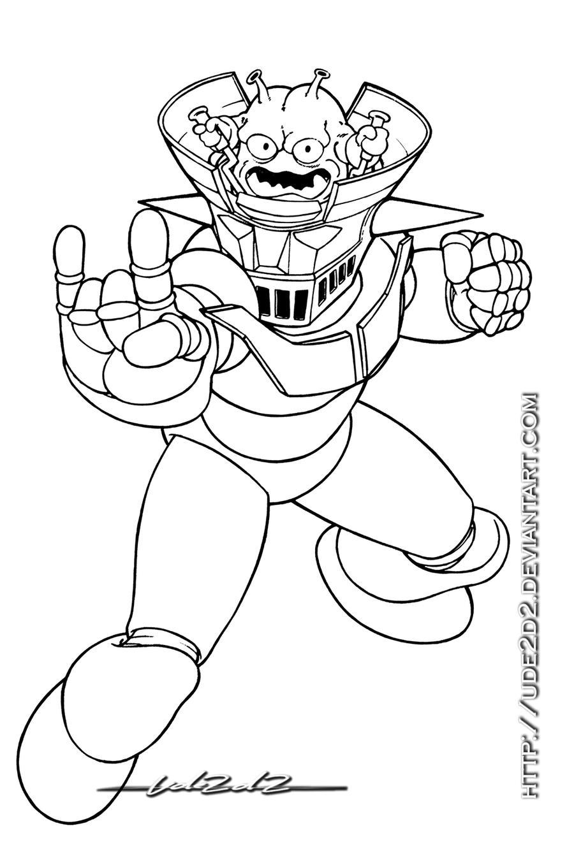 Único Dibujos De Mazinger Z Para Imprimir Y Colorear