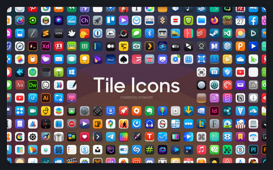 Tile Icons - A macOS Iconpack